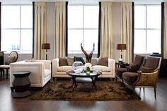 modern living room cool color palette | Brown And Cream Colour Scheme Design Ideas, Pictures, Remodel, and ...