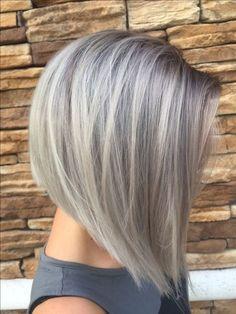 Gray silver hair bob short hair                                                                                                                                                                                 More