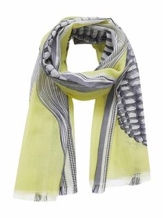 Inuitoosh Yellow POP Summer Scarf Adventure Outfit, Neon Yellow, Blue, Summer Scarves, Navy And White, Color Pop, Seasons, Clothes, Shopping