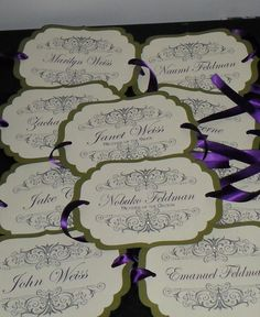 Wedding, Chair Signs, Place cards, wedding signs, Reserved signs, Place Names, Chair Tags, Set of 20 with rhinestones