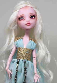 Monster High OOAK Repaint Faceup Doll Daenerys