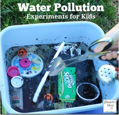 Water Pollution Experiments for Kids - Kids will complete two pollution experiment to see if the water can become clear and clean.