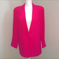 I just discovered this while shopping on Poshmark: Diane Von Furstenberg DVF Silk Blazer. Check it out!  Size: L