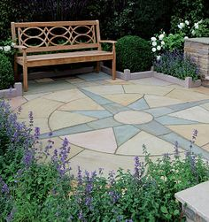 compass rose patio design