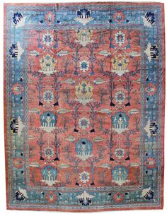 Extra-Oversize New Rug Gallery: Oversize Persian Mahal RugJF5188, Hand-knotted in Persia; size: 16 feet 2 inch(es) x 20 feet 8 inch(es)