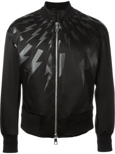 Neil Barrett Lightning Bolt Bomber Jacket - O' - Farfetch.com