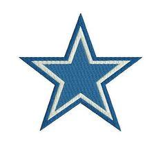 Dallas cowboys embroidery design. Football embroidery