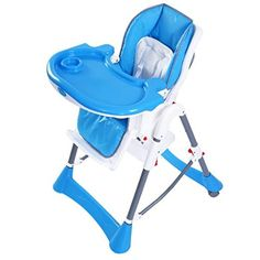 Giantex Portable Baby High Chair Infant Toddler Feeding Booster Folding Highchair Blue -- Want additional info? Click on the image.