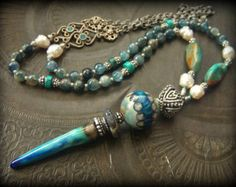 Gypsy BohemianTurquoise Kyanite Lapis African Beads by YuccaBloom