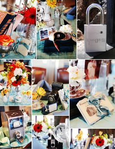Another beautiful wedding full of creative details...including a Love Padlock from www.lovelock-itz.com    Style Design by www.vintagecelebrations.com   Photography by http://www.gideonphoto.com