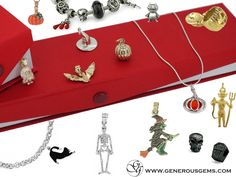 Halloween Beads and Charms for the holidays in gold and silver #halloween