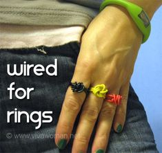 fashion wired rings
