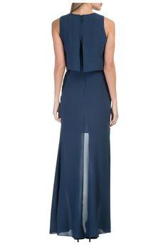 Be.tha - Vestido longo torênia - azul - OQVestir