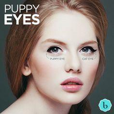 A tendência puppy eyes começou com as orientais, especialmente para aumentar e dar mais profundidade ao olhar. Com um traço mais curto e menos curvado, o puppy deixa o olhar mais fofinho e clean, mas nem por isso menos sexy. Pra fazer é fácil: siga a linha e o comprimento natural dos olhos, finalizando com uma ponta meio 'caidinha'. E aí, vai tentar? Será que a moda pega por aqui? #thebeautybox