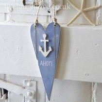 Ahoy Hanging Heart
