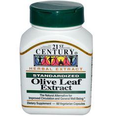 21st Century Health Care, Olive Leaf Extract, Standardised, 60 Veggie Caps
