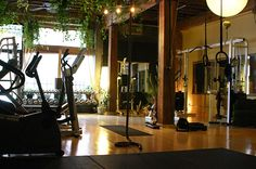 Love this! small gym style, perfect for personal training and it looks like a calm environment.