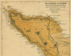 Sultanat Atscin (Aceh & Nias) map_ca. 1816/1824