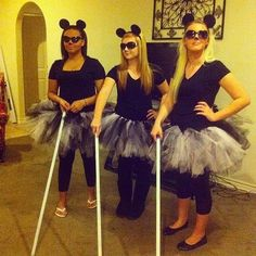 Girl Group Halloween Costumes Photo 34 lol the three blind mice Girl Group Halloween Costumes, Creative Halloween Costumes, Cute Costumes, Halloween Kostüm, Girl Costumes, Costumes For Women, Costumes 2015, Group Of 3 Costumes, Bff Costume Ideas