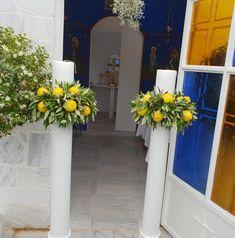 λαμπάδες γάμου με θέμα ελιά-λεμόνι Easy Wedding by Fey's Style