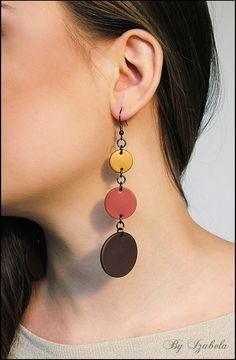 Large earrings / Lightweight earrings / Handmade Fimo by ByIzabela