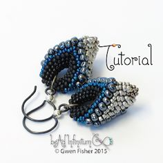gwenbeads: New Tutorial - Victory Pod Earrings Beaded with Cellini Peyote Stitch