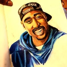 Finished tupac drawing (Color pencils)