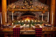 Image result for mountain lodge christmas