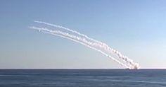 Mar Mediterrâneo: Mísseis de cruzeiro lançados em relação à Síria