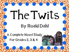 Everything you need for a novel study on The Twits by Roald Dahl! You can copy as an entire packet or you can copy pages individually! This can be for a small book club, or for the whole class! Middle School Novels, The Twits, Literacy Programs, My Teacher, Teacher Stuff, Author Studies, Book Study, Roald Dahl, Homeschool Curriculum