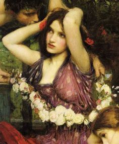 Detail from 'Flora and the Zephyrs' - 1898 by John William Waterhouse