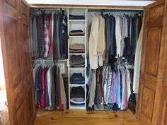 Making a closet in an old house work for today.  DIY closet on a budget.