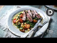 (93) 5 Minute Lamb Steak & Quick Bean Stew - YouTube