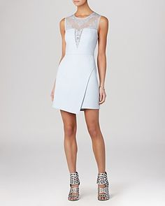 BCBGMAXAZRIA Dress - Kinsley Sleeveless Lace Fit and Flare | Bloomingdale's