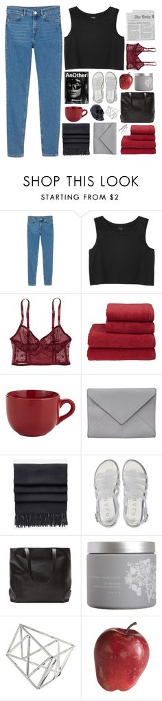 """""""SAINT"""" by adal1ne ❤ liked on Polyvore featuring Monki, American Eagle Outfitters, Christy, Pier 1 Imports, Ann Demeulemeester, Acne Studios, Aéropostale, Alexander McQueen, red flower and Topshop"""
