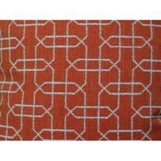 Plutus Ardmore Persimmon Handmade Throw Pillow, Double Sided, Orange