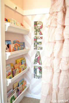 Big Girl Room Reading Nook and Cutting Edge Stencil Giveaway