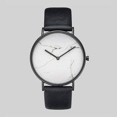 Aliexpress.com: Comprar Cuarzo ultra delgada 2016 militar horloge reloj de pulsera reloj minimalista mujeres hombres barato cuero genuino grano de mármol de piedra de información de la piedra fiable proveedores en Time Cave Watch Store