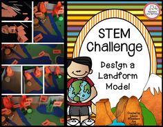 Can you build a landform model! STEM Challenge!