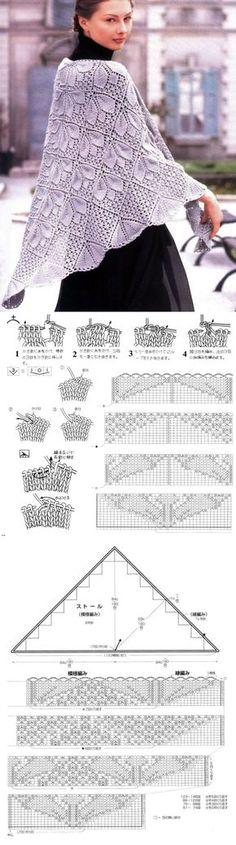 Вязание шалей. Постила