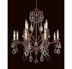 """View the Savoy House 1-1403-12 Florence 12 Light 33"""" Wide 2 Tier Chandelier with Crystal Accents at LightingDirect.com."""