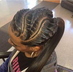 braids w| pony tail .