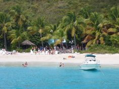Soggy Dollar Bar-Jost Van Dyke  BVI- no dock you have to swim/walk in from boat-hence the name soggy dollar.