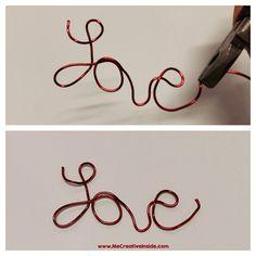 Scritta Love San Valentino