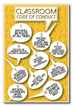 new classroom conduct poster is a PosterEnvy exclusive!This new classroom conduct poster is a PosterEnvy exclusive! Classroom Charts, Classroom Rules, New Classroom, Classroom Organization, Classroom Management, Classroom Ideas, Classroom Displays, Behavior Management, Motivational Bulletin Boards