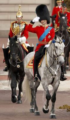 Prince William at his first Trooping of the Colour 2011