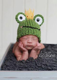 Frog Prince Hat newborn baby boy fairy tale infant by zellashop, $32.00