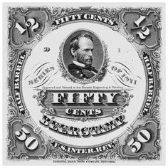 Internal Revenue Stamps | 1871 Fifty Cents Internal Revenue Beer Stamp