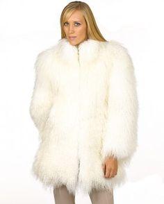 Нора Белые монгольский Ягненок меха куртки