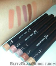 ELF Cosmetics Studio Matte Lip Colors Swatches--- I love the natural shade. This is probably my favorite lip stick for a matte finish